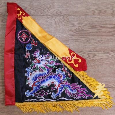 1尺2 台湾高档葱绣平龙令旗(黑色)