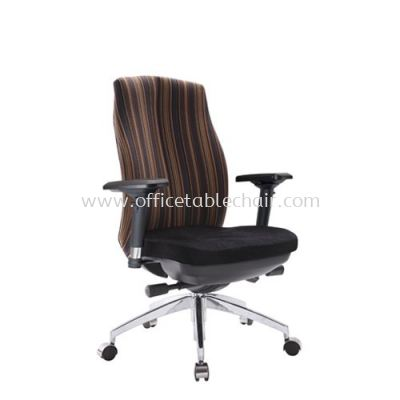 LINEAR EXECUTIVE MEDIUM BACK CHAIR WITH ALUMINIUM ROCKET DIE-CAST BASE ACL 6226