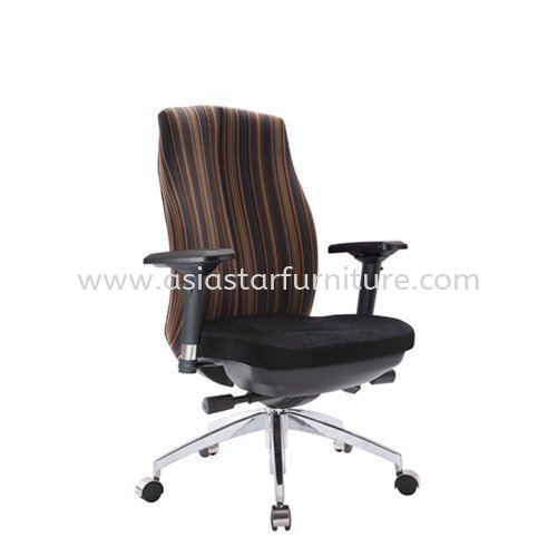 LINEAR MEDIUM BACK CHAIR WITH ALUMINIUM ROCKET DIE-CAST BASE ACL 6226