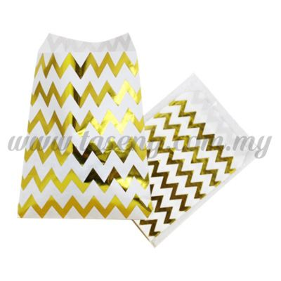 ZigZag Paper Bag - Gold 1pack *6pcs(PB-ZZ-GO)