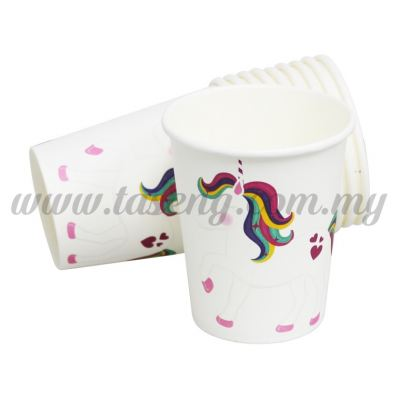 Paper Cup Unicorn - White 10pcs (P-PC-UN1)