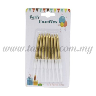 Gold Colour Candle 8pcs (CDL-JQ08)