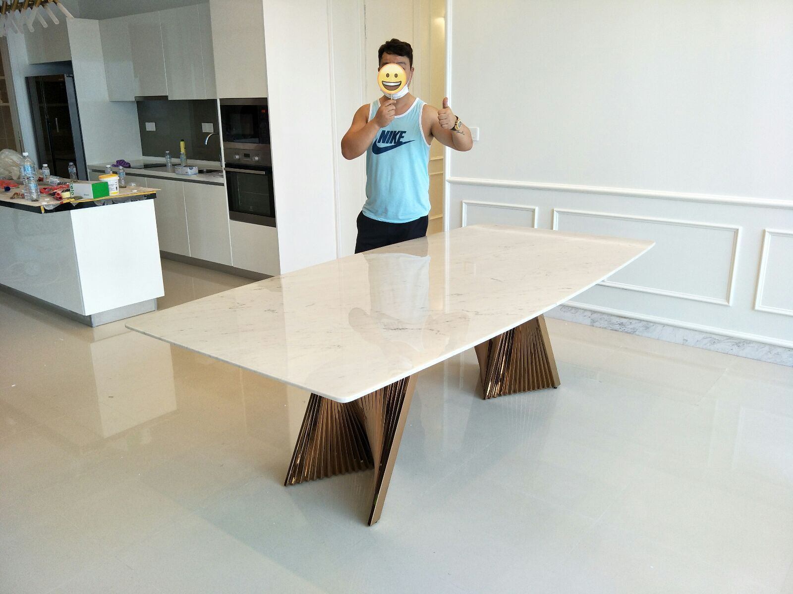 White Marble Dining Table From Greece - Sivec White Marble