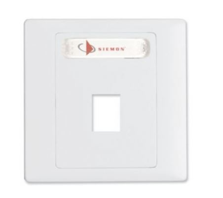 SIEMON Max British Double Layer Faceplate, Single