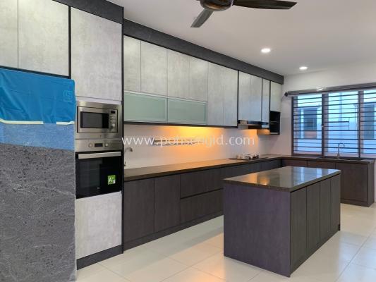 Solid Ply & Melamine Kitchen Cabinet #FELLONA