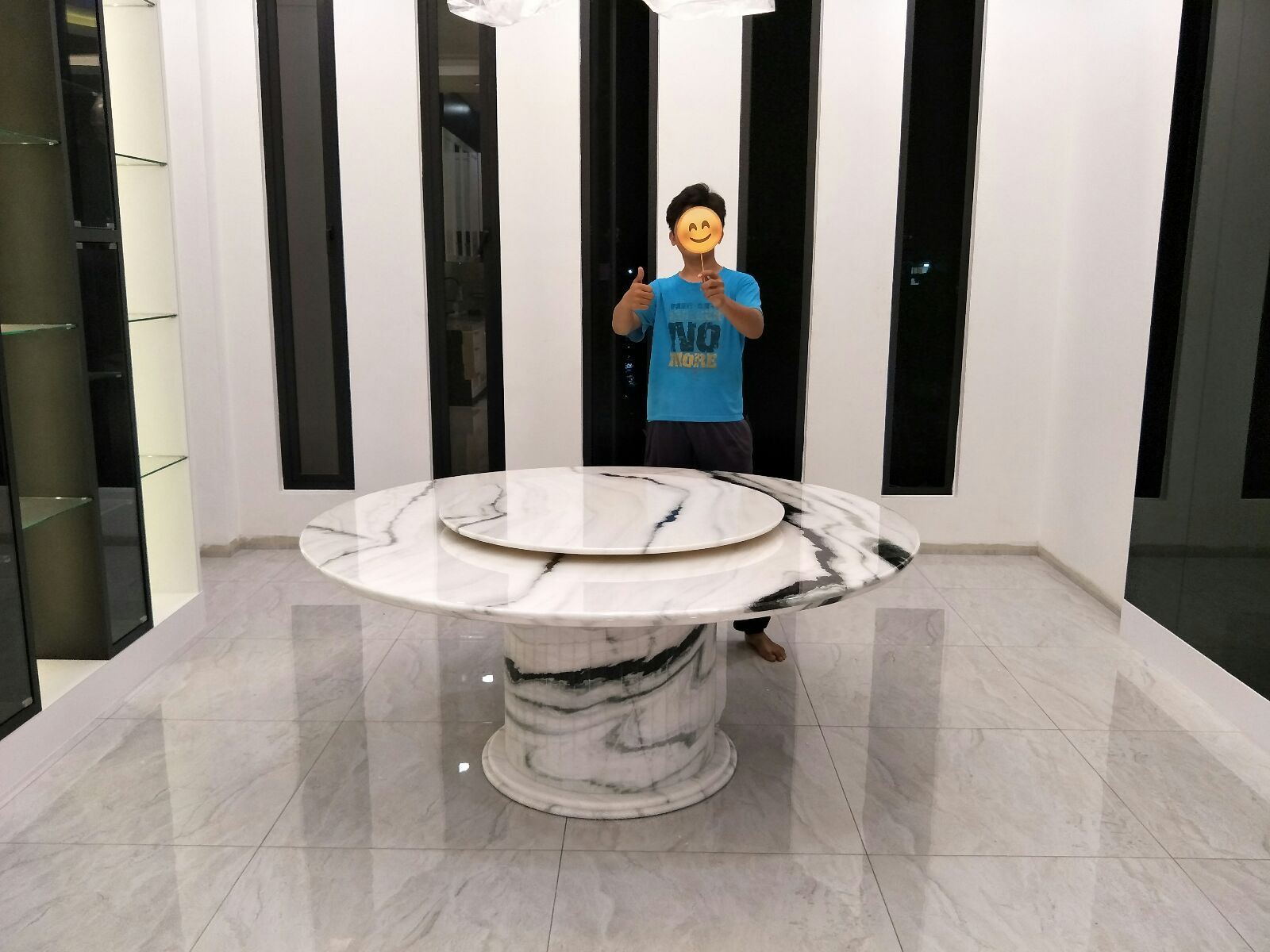 White Marble Dining Table From China - Panda White Marble