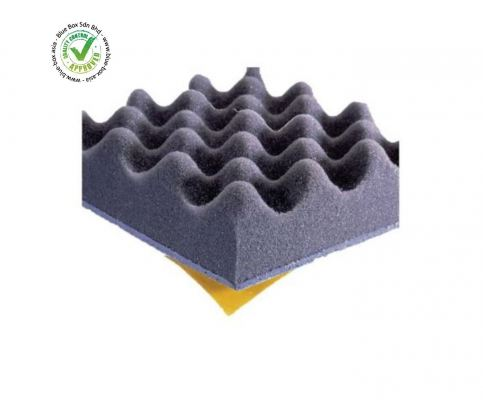 Paulstra Adhesive PUR Foam Soundproofing Sheet, 700mm x 500mm x 50mm  408-8234