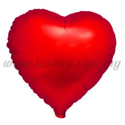 Foil Balloon Matt Heart Shape - Red (FB-SLB076-R)