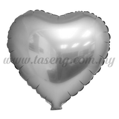 Foil Balloon Matt Heart Shape - Silver (FB-SLB076-SI)