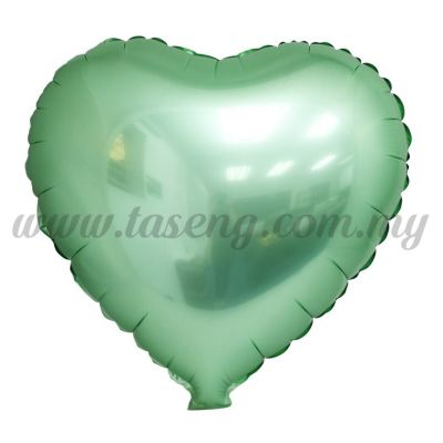 Foil Balloon Matt Heart Shape - Green (FB-SLB076-G)