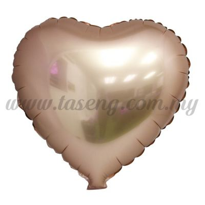 Foil Balloon Matt Heart Shape - Rose Gold (FB-SLB076-RG)