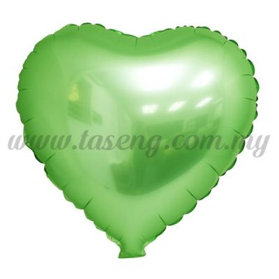 Foil Balloon Matt Heart Shape - Lime Green (FB-SLB076-LG)