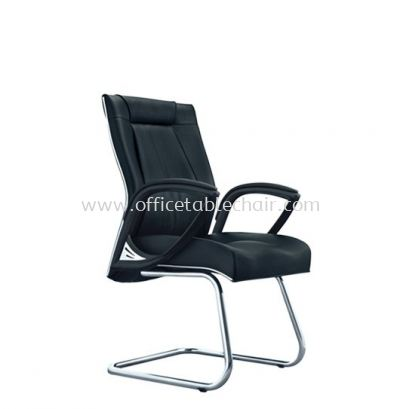 TESSA II DIRECTOR VISITOR CHAIR C/W CHROME TRIMMING LINE ACL 8055