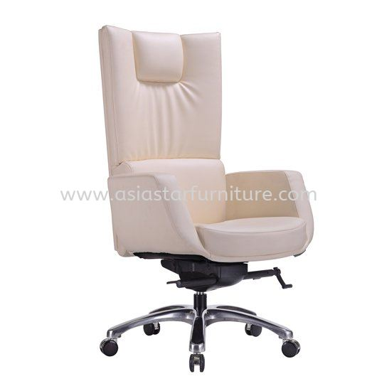 BRAVO DIRECTOR HIGH BACK LEATHER OFFICE CHAIR WITH ALUMINIUM DIE-CAST BASE - director office chair seputeh | director office chair taman desa | director office chair ampang jaya