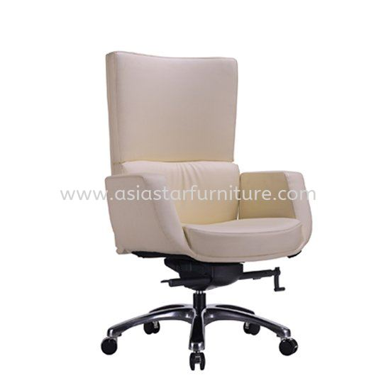 BRAVO DIRECTOR MEDIUM BACK LEATHER OFFICE CHAIR WITH ALUMINIUM DIE-CAST BASE - director office chair kuchai entrepreneurs park | director office chair happy garden | director office chair pandan indah