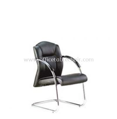 PRIMA DIRECTOR VISITOR LEATHER CHAIR C/W CHROME CANTILEVER BASE PR 123L