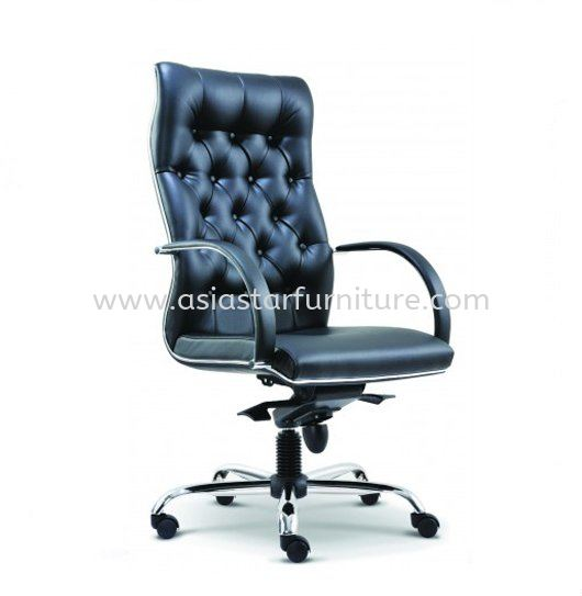 MORE DIRECTOR OFFICE HIGH BACK CHAIR C/W CHROME TRIMMING LINE ASE 2081