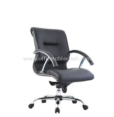 VITTORIO LOW BACK CHAIR C/W METAL CHROME BASE ACL 306