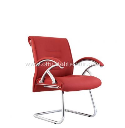VITTORIO VISITOR CHAIR C/W METAL CHROME BASE ACL 407