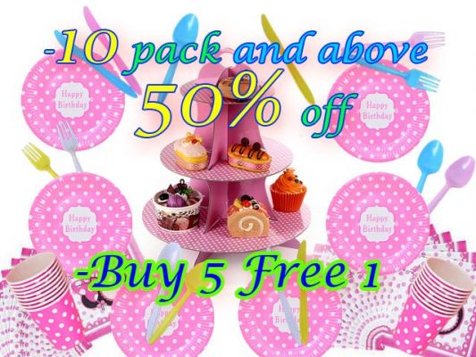Birthday Theme Party Items Promotion!!