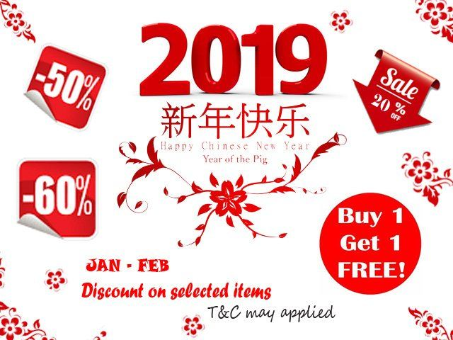 New Year Sale 2019 (Jan-Feb)
