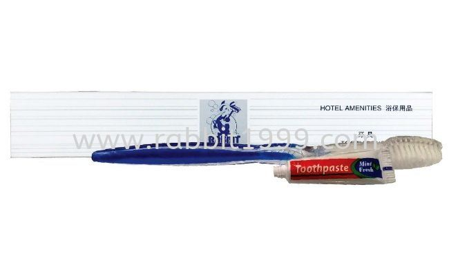 RABBIT TOOTHBRUSH + PASTE HOTEL AMENITIES