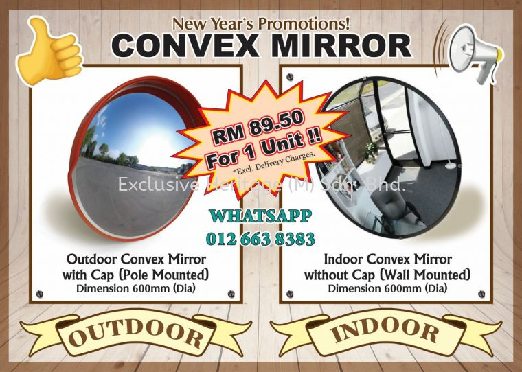 Convex Mirror - New Year 2019 Promotions !!!