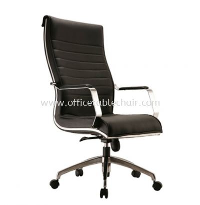 MAXIMO DIRECTOR HIGH BACK CHAIR C/W CHROME TRIMMING LINE ACL 10 (B)