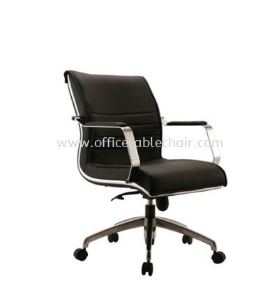 MAXIMO DIRECTOR LOW BACK CHAIR C/W CHROME TRIMMING LINE ACL 8 (B)
