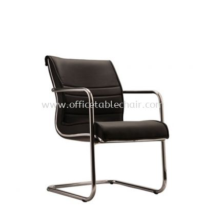 MAXIMO DIRECTOR VISITOR CHAIR C/W CHROME TRIMMING LINE ACL 6