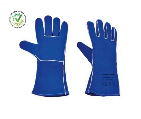 Blue Leather Welding Gloves 10  104-1148
