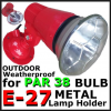 MP200 PAR38 HOLDER ONLY (RED) WITHOUT LAMP OUTDOOR WALL LIGHT / GARDEN LIGHT
