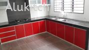 Framed Red with Concrete Table Top Aluminium Composite Panel
