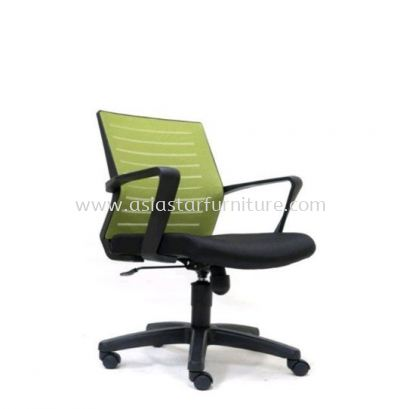 BURNLEY LOW BACK MESH CHAIR WITH PP BASE ASE2736
