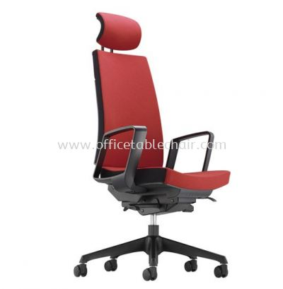 CLOVER EXECUTIVE HIGH BACK LEATHER CHAIR WITH ROCKET NYLON BASE ACV 6110F