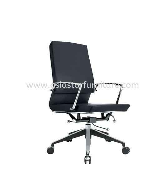 COLONNI MEDIUM BACK CHAIR WITH CHROME TRIMMING LINE ACL 8822