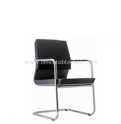 COLONNI EXECUTIVE VISITOR CHAIR WITH CHROME TRIMMING LINE ACL 8855