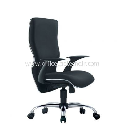 ELIXIR EXECUTIVE HIGH BACK CHAIR C/W CHROME TRIMMING LINE ACL 661