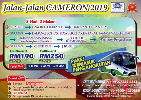 PAKEJ DOMESTIK : CAMERON HIGHLANDS