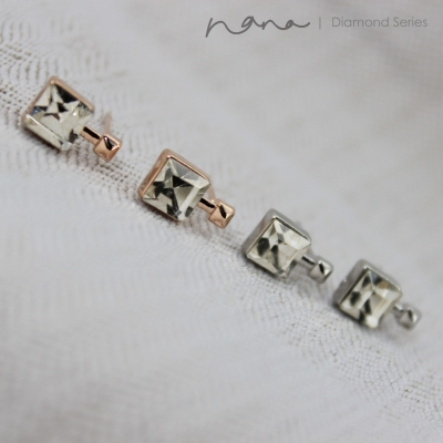 Diamond - E38 Square (Rose Gold / Silver)