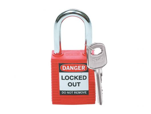 Brady 99552 Safety Padlock (Red) with 1.5