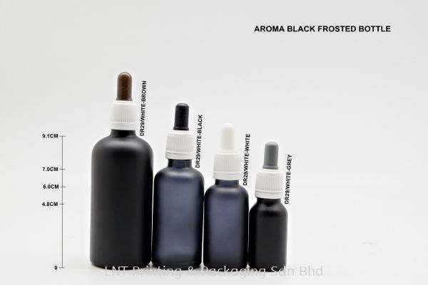 AROMA BLACK FROSTED BOTTLE