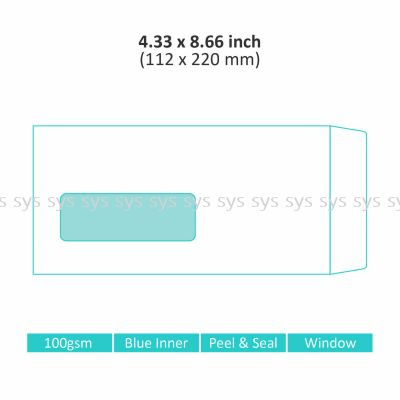 "4.33"" x 8.66"" Window Envelope"