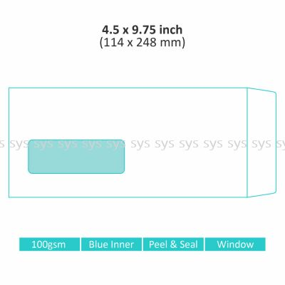 "4.5"" x 9.75"" Window Envelope"