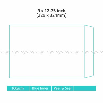 "9"" x 12.75"" Non-window Envelope"