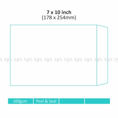 "7"" x 10"" Non-window Envelope"