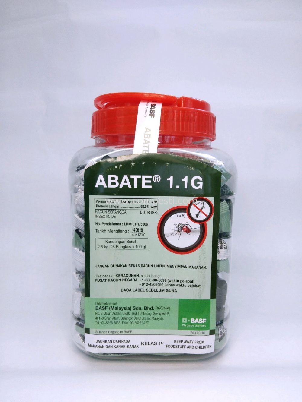 Abate 1.1 G Temephos Active Ingredients Selangor, Malaysia, Kuala Lumpur (KL), Puchong Supplier, Suppliers, Supply, Supplies | COMPESTI SDN BHD