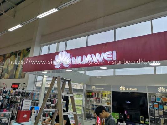 Huawei LED Acrylic 3D Box up Sigange At Giant Klang Center