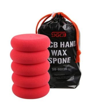 SGCB Hand Wax Applicator UFO 3cm Thickness Sponge (pack of 5)