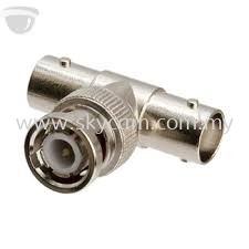 BNC T-Joint Connector 1 (Male) & 2 (Female)